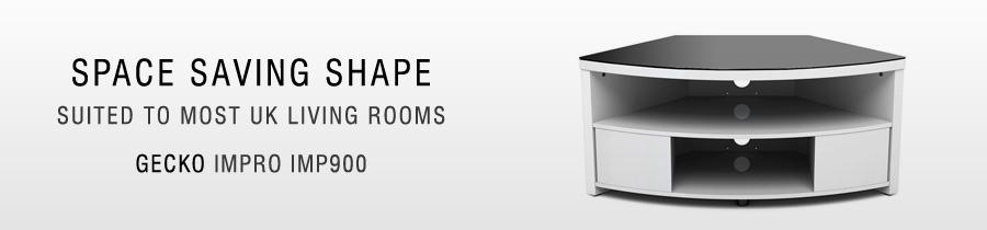 Gecko Impro Imp900 Space Saving Corner Tv Cabinet
